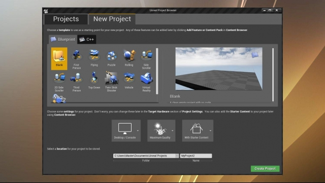 01-ue4-course-project-creation-settings